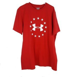 Under Amour Mens Freedom Red T-Shirt XL
